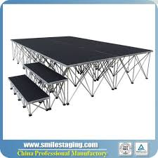 build portable stage for event fortstage pinterest
