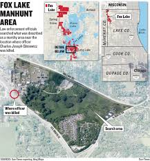 Chicago Shooting Map by Massive Manhunt Continues After Fox Lake Officer Slain Chicago