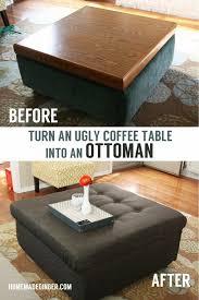 Diy Ottomans Turn An Coffee Table Into An Diy Ottoman