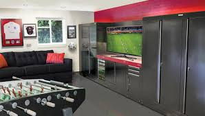 sports garage man cave garage interiors from dura garages