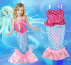 Mermaid Halloween Costume Kids Mermaid Birthday Party Mermaid Birthday