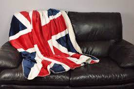 British Flag Bedding Amazon Com Dii Super Soft Plush Flannel Fleece Sherpa Blanket