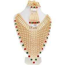 long gold necklace sets images Fashion new design african wedding bridal costume jewelry sets jpg