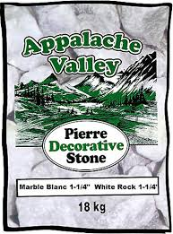 Decorative Stone Home Depot Appalache Valley 18 Kg White Marble Decorative Stone The Home