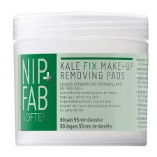 buy kale fix dry skin make up remover pads 60 pack by nip fab