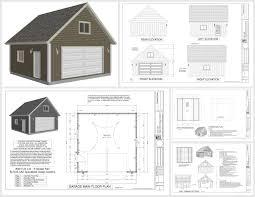 24 x 24 garage plans g514 24 x 24 x 9 loft garage plans in pdf and dwg shops