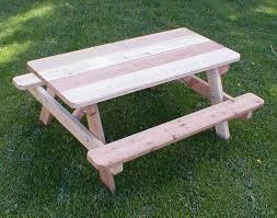 Western Red Cedar Outdoor Furniture by Red Cedar Kid U0027s Picnic Table
