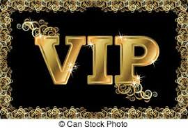 vector clipart of vip golden card vip card with golden letters