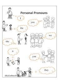 personal pronouns free esl worksheets english resources