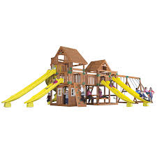 shop backyard discovery safari expandable residential wood playset