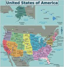 The Map Of United States Of America by United States Map In French