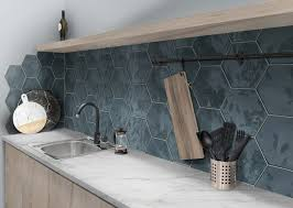 white kitchen cabinets with hexagon backsplash modern kitchen with hexagon backsplash modern