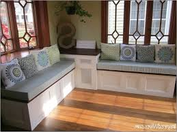 Remodelaholic Build A Custom Corner Marvelous Built In Bench Seat With Storage Plans Remodelaholic