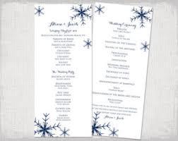 winter wedding programs wedding program template starfish wedding