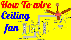 how to wire ceiling fan with light switch