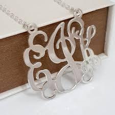 Monogrammed Sterling Silver Necklace 39 Best Monogram Jewelry Images On Pinterest Monogram Jewelry