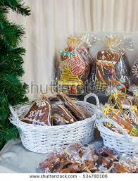 gingerbread among other cookies vilnius christmas stock photo