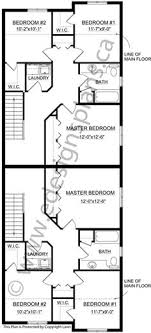 duplex floor plans for narrow lots narrow lot front to back 2 storey bi level duplex plan 2012659 by