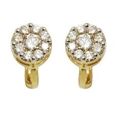 daily wear diamond earrings light weight gold earring pressure earrings daily wear earrings