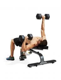 Flat Bench Barbell Press Alternating Dumbbell Bench Press Men U0027s Fitness