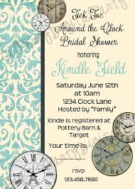 around the clock bridal shower 9 best around the clock shower invitations images on