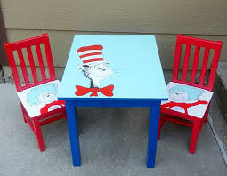 Dr Seuss Decor Dr Seuss Table And Chairs Makeover Cat In The Hat
