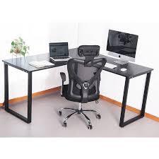 black metal computer desk