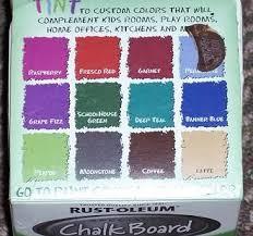 colors of chalkboard paint rustoleum tintable chalkboard paint