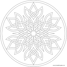 snowflake mandala to color available in png and jpg format