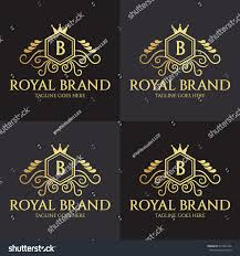 royal brand logo design template luxury stock vector 513442546