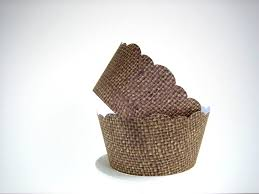36 burlap cupcake wrappers shabby chic rustic fall autumn