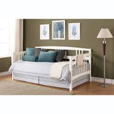 White Wooden Daybed Daybeds Marvelous White Wood Twin Size Daybed With Skirted