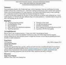 Pipefitter Resume Journeyman Plumber Resume Create My Resume Speech Pathology