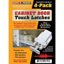 Cabinet Door Magnetic Latch Touchlatch Non Magnetic Cabinet Door Earthquake Latches 4 Pack