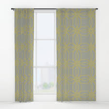 Vintage Green Curtains Aztec Window Curtains Society6