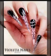 acrylic stiletto nail designs how you can do it at home