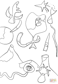 the air by joan miro coloring page free printable coloring pages