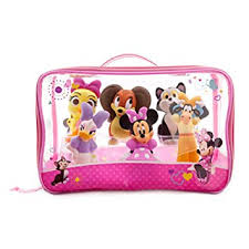amazon com disney minnie mouse and friends bath toy set for