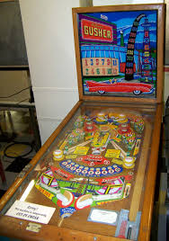 gusher pinball machine made by williams vintage game room
