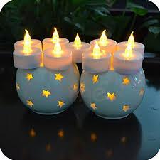 24pcs mini blink velas con pilas flameless gold candle