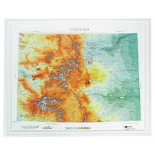 Colorado Usa Map by Hubbard Scientific Raised Relief Map Colorado State Map Usa