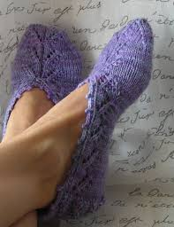 knitting pattern pdf slipper socks chausettes de lavande