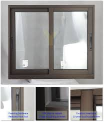 soundproof aluminum sliding glass windows from yy factory of