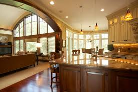 Open Kitchen Family Room Floor Plans Open Concept Kitchen Living Room Flooring Ideas Apartment Small