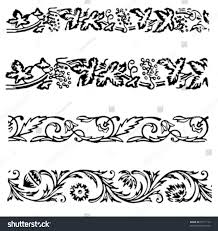 various ornamental borders motives illustrations stock vector