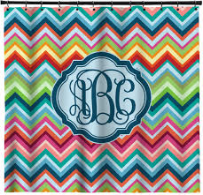 Orange And Blue Shower Curtain Wall Decor Pretty Pink Chevron Curtains With Horizontal Brown And