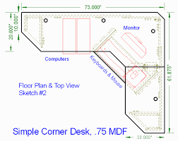 pdf plans corner desk construction plans download computerized
