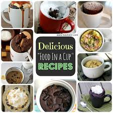printable microwave chocolate cake in a mug recipe plus a few others