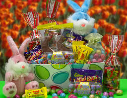easter basket delivery easter candy basket deluxe for delivery
