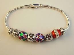 metal beads bracelet images Pandora inspired christmas charm bracelet flower colorful jpg